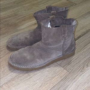 Ugg Grey Suede Boots Size 8